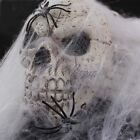 Spider Web With Spiders Halloween Decor Stretchy Cobweb Funny Haunted House Prop