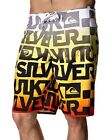 Quiksilver Boardshorts 'Stained' Shorts Surfwear Swimwear Quik Red