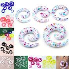 2mm-10mm Acrylic Spiral Horn Snail Twist Taper Ear Stud Plugs Expander Stretcher