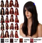 LIGHT ASH BLONDE Long Wavy Straight Full Wig Fashion costume Halloween wigs