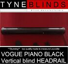 "VOGUE BLACK Vertical Blind HEADRAIL TRACK any size up to 2FT (24"" or 61cm)"