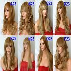 LIGHT BROWN BLONDE MIX Long Wavy Straight Full Wig Fashion Halloween wig #12/613