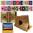 "360 ROTATING LEATHER CASE STAND COVER FOR SAMSUNG GALAXY TAB 4 10.1"" / 8'' / 7''"
