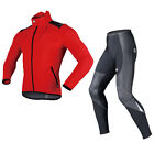 Sobike Cycling Suits Fleece Winter Warm Red Jacket-Alien , Fleece Tights-Shark