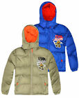 Boys Teenage Mutant Ninja Turtles Padded Coat New Kids Hooded Puffa Jacket 3-8