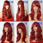 INTENSE RED Curly Layered Full Wig Ladies Fashion Fancy dress wigs