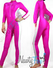 Sexy Hot Pink, White Stripe Jumpsuit,Bodysuit,Unitard Dance Costume S-3XL