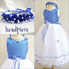 Gorgeous Royal sapphire blue pageant flower girl party dress size 2 4 6 8 10 12