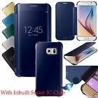 New Mirror Smart View Clear Flip Case Cover For Samsung Galaxy S6 S6 EDGE SCREEN