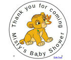 """24 Baby lion baby shower Favor Label Stickers Personalized for YOU 1.67"""""""