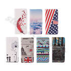 For Smart Phones Synthetic Leather Stand Credit Card Pocket Fine Wrap Case Cover