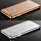 "2015 Thin Ultra Slim Metal Plated Clear Case Cover for iPhone 5 5s/6 4.7""/6 Plus"