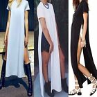 Women Long Maxi Holiday Summer Boho Evening Party Dress Beach Dresses SML