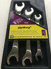 Chicago Brand 56038 3 Pc Imperial / SAE Open End Ratchet Spanner / wrench Set