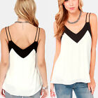 Fashion Women Sexy Casual Loose Chiffon Sleeveless Vest Shirt Tops Blouse S-XXL