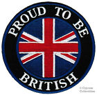 PROUD TO BE BRITISH embroidered iron-on PATCH UK ENGLAND FLAG BRITAIN UNION JACK
