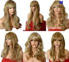 LIGHT BROWN BLONDE MIX Curly Layered Full Wig Ladies Fashion  wigs #12/613