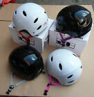 Savage Helmet BMX Bike Skateboard Stunt Scooter Lid Black White Kids Adults