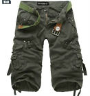 Army Green 29 New Men's Casual Cargo Pants BERMUDA Hot Sell Classic Cargo Shorts