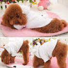 5 Size Pet Puppy Dog Coat Cute Winter White Sheep Warm Hoodie Clothes Apparel