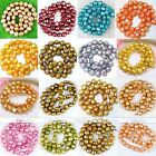 Strand 7-11mm Round Nugget Fresh Water Pearl Loose Beads For Jewelry Making DIY