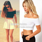 tp88 Celebrity Style Sexy Off Shoulder Crop Tank Tee Top