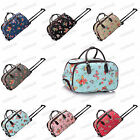 Canvas Butterfly Print Travel Suitcase Holdall Luggage Weekend Bag #308