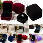 Square Velvet Jewelry Earring Ring Storage Display Organizer Box Case Gift