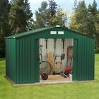 Metal Garden Shed For Storage | Free Foundation | Green or Grey or Wooden