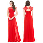 Chiffon RED Applique Long Sexy Women Bridesmaid Wedding Evening Party Gown Dress