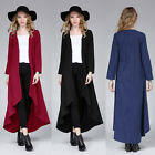 Fashion Womens Waterfall Outwear Fallaway Cape Long Jacket Trench Coat Hot