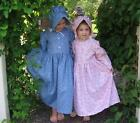 Little Girl size 4 5 6 7 old-fashioned Pioneer prairie dress & bonnet in stock