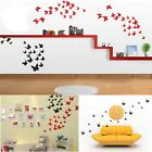 12Pcs 3D Butterfly Art Design Decal Wall Stickers Home Room Fridge Decorations