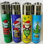 #40 Clipper Classic Lighter Christmas BAD Santa Claus Weed Leaf Set/Single