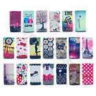 For Smart Phone Painted Deluxe Style Universal PU Leather Card Case Shabby Cover