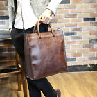 Black Men's Leather shoulder hand bags Messenger Briefcase Brown laptop tote bag