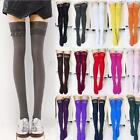 15 Colors Hot Sexy Womens Over Knee Thick Lace Top Opaque Thigh High Stockings