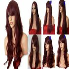 PLUM WINE Wig Natural Long Curly Straight Wavy Halloween FULL LADIES HAIR WIG