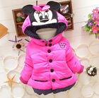 NEW Girls Baby Toddler Winter Cotton Mouse Hooded Cartoon Coat Jacket