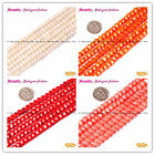 "Beautiful Coin Smooth 7mm Coral Jewelry Making Gemstone Beads 15""SD3440-V"