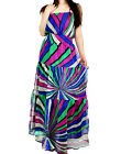 Vintage Cinched-Waist Strapless Chiffon Maxi Long Womens Tube Dress XS-L