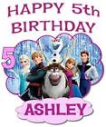 FROZEN HAPPY BIRTHDAY T-SHIRT Personalized Any Name/Age Toddler to Adult