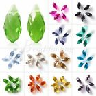New 10pc Crystal Teardrop Top Drilled Pendants Gorgeous Crystal Beads 6-8mm