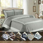 Modern Hotel Duvet Cover Collection 100% Cotton Ultra Soft Lightweight Cover Set image