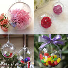 6/8/10/12CM Christmas Xmas Tree Hanging Ball Boxes  Clear Candy Boxes Ornament