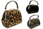 New Retro 1950's Leopard Pin-up Dita Betty Page Rockabilly style Framed Box Bag