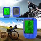 2PCS Waterproof Bicycle Wired LED Backlight Computer Speedometer Odometer TXEN