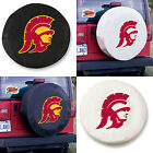 USC Trojans Exact Fit Size Black or White Vinyl Spare Tire Cover by HBS Covers
