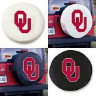 Oklahoma Sooners Exact Fit Size Black or White Vinyl Spare Tire Cover by HBS