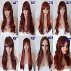 Wig Long Curly Straight Wavy Women Halloween party Ladies Full Hair WIG 33AS350